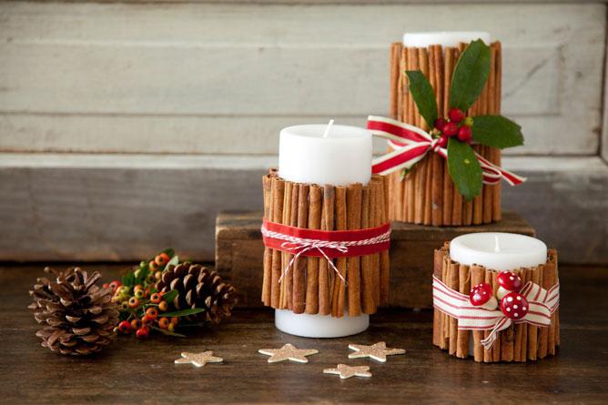 DIY Cinnamon Christmas Candles Dwellingdecor
