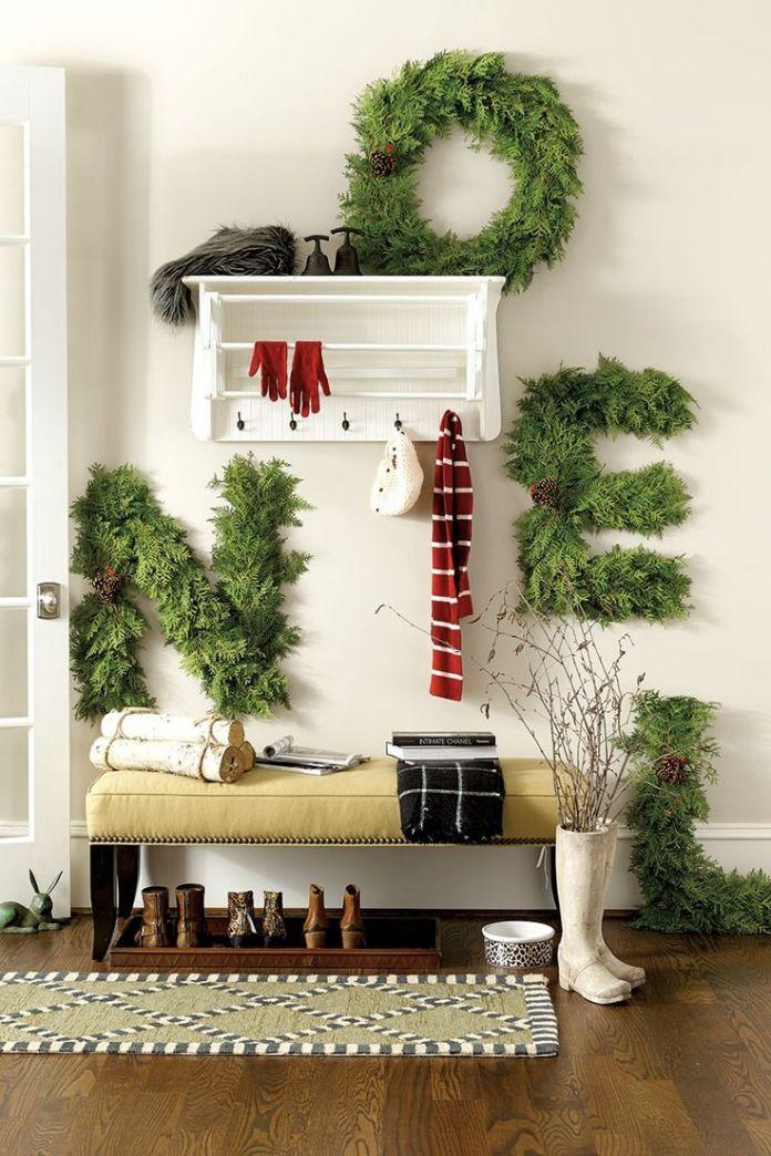 Elegant Christmas Entryways Decoration Dwellingdecor