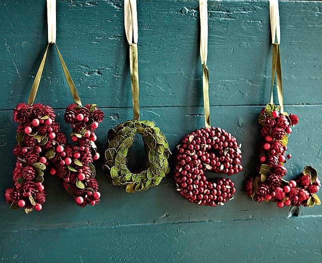 Faux Noel Letters Decoration Dwellingdecor