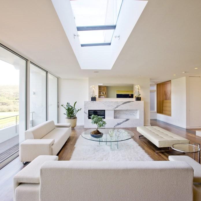 Large Modern Living Room With Skylight Dwellingdecor