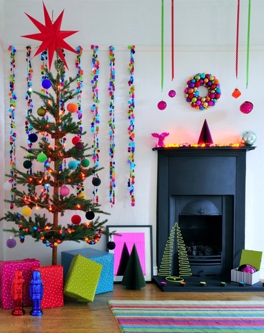 Living Room Decoration With Pop Colors