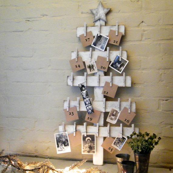 Advent Calendar Wooden Christmas Tree Dwellingdecor