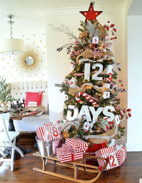 Count Down Christmas Advent Tree dwellingdecor