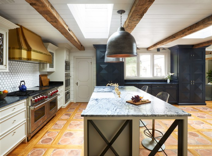 Eclectic Kitchen With Exposed Beam Dwellingdecor