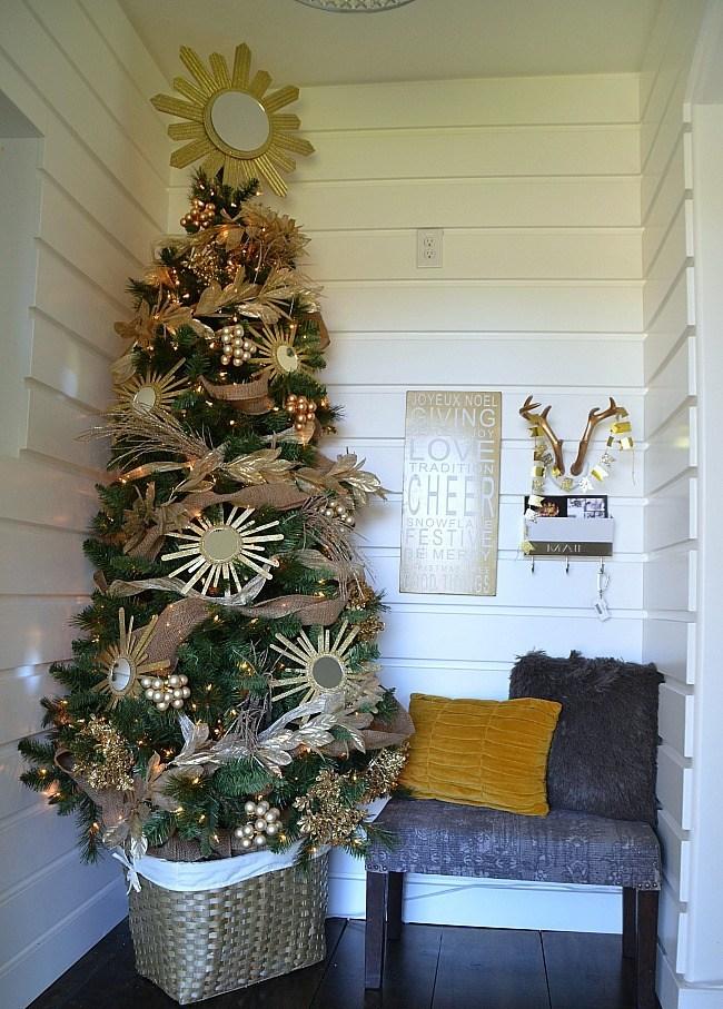 Sunburst Mirror Christmas Tree dwellingdecor