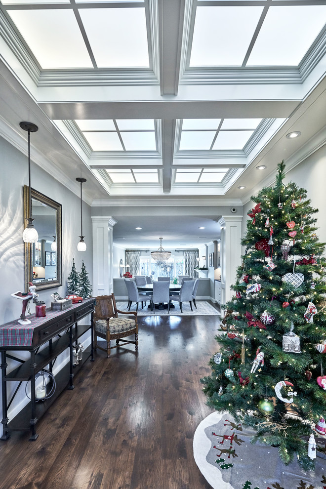 Traditional Entry Hall Christmas Tree dwellingdecor