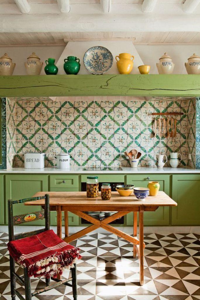 Vintage Eclectic Kitchen Dwellingdecor