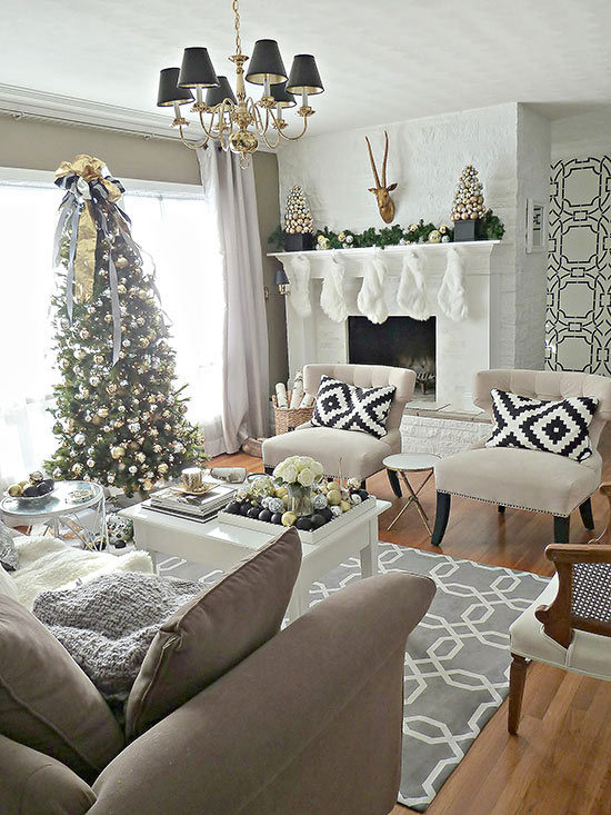 Christmas Living Room Decorations dwellingdecor (16)