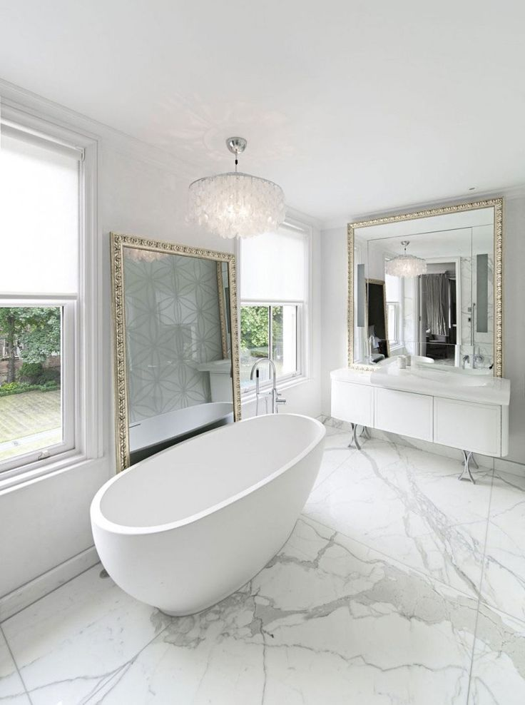 Modern Bathroom Design with Amazing Freestanding Tub