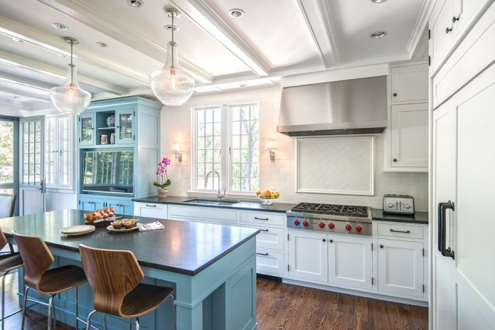 Classic Dark Wood Floor Kitchen