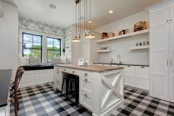 Country Galley Multicolored Floor Kitchen