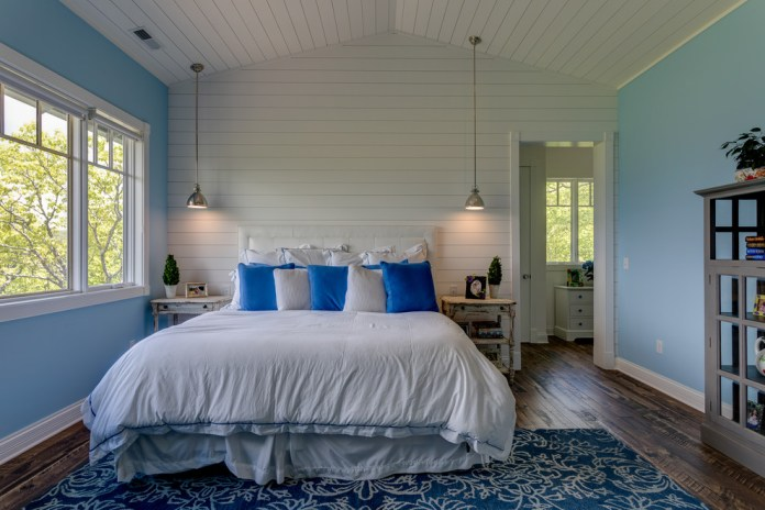 Craftsman Bedroom Design With reclaimed Wood & Wall dwellingdecor