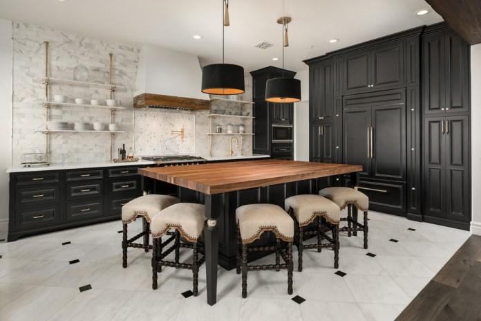 Mediterranean Multicolored Floor Kitchen