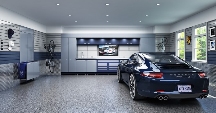 Luxurious Garage With Two Car Parking Dwellingdecor