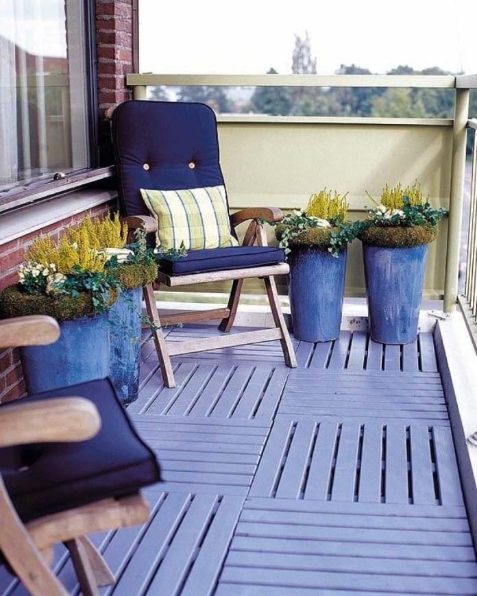 Balcony Garden With painted wood floor Dwellingdecor