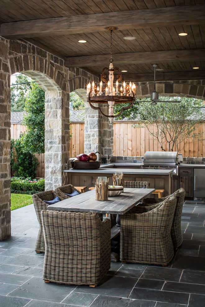 Rustic Style Outdoor Patio Dwellingdecor
