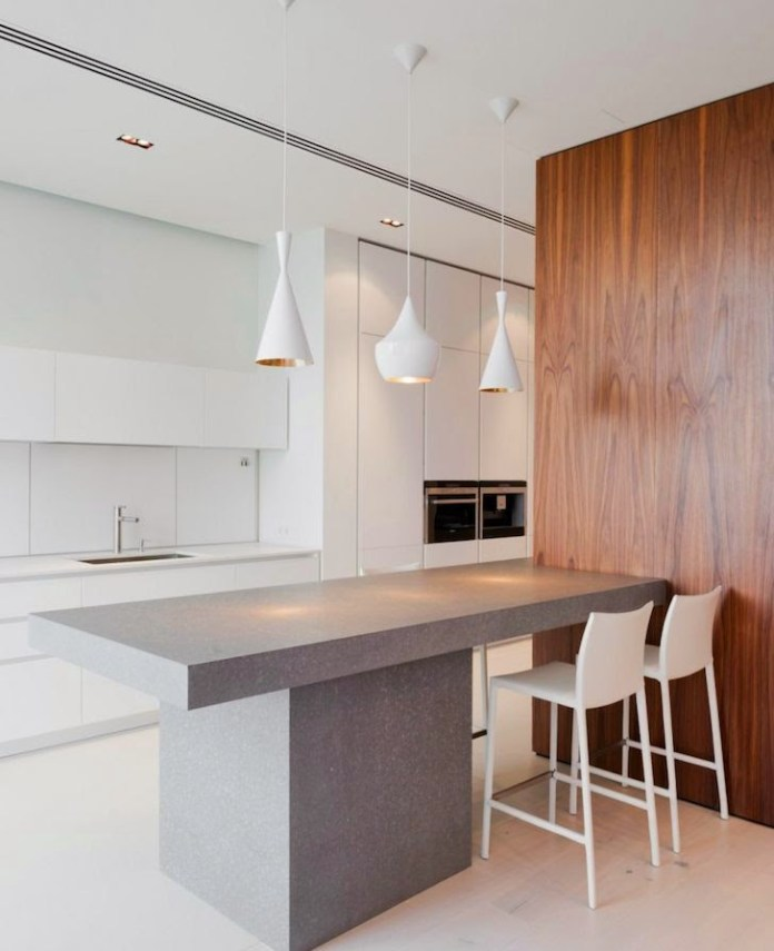 Open kitchens through a bar or island