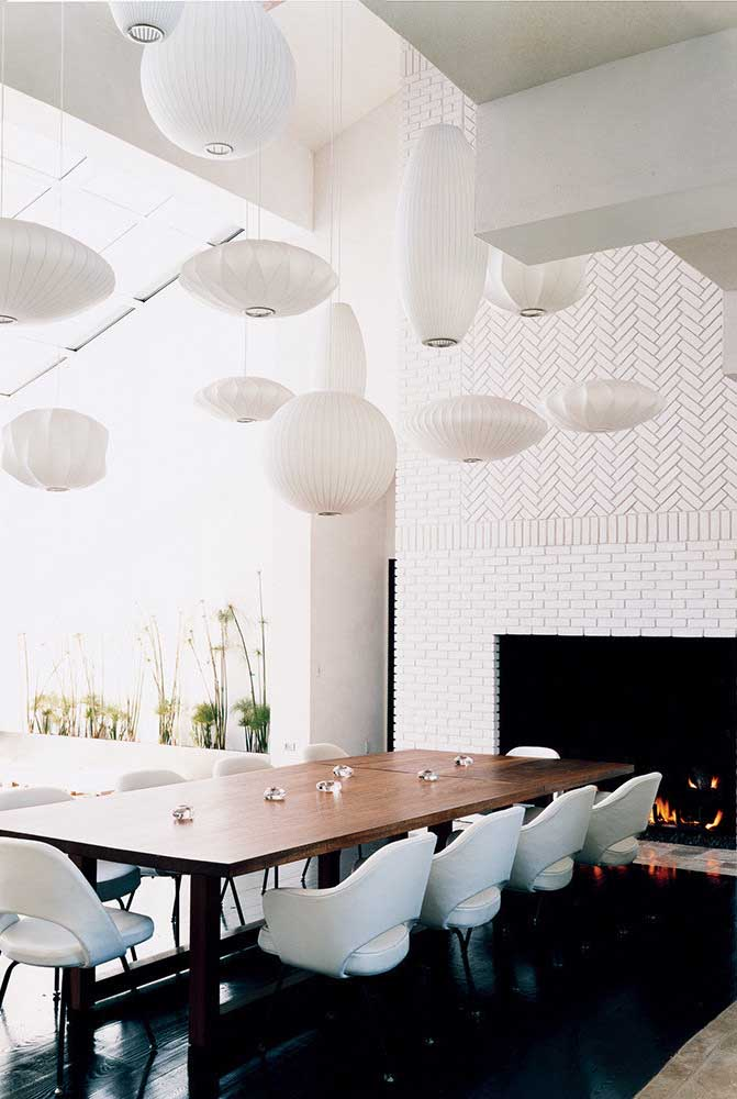 12. What if instead of one you have several lamps in the dining room