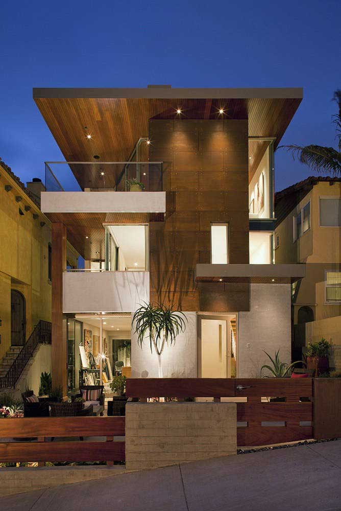 36. Once again, corten steel is being used on the facade of homes.