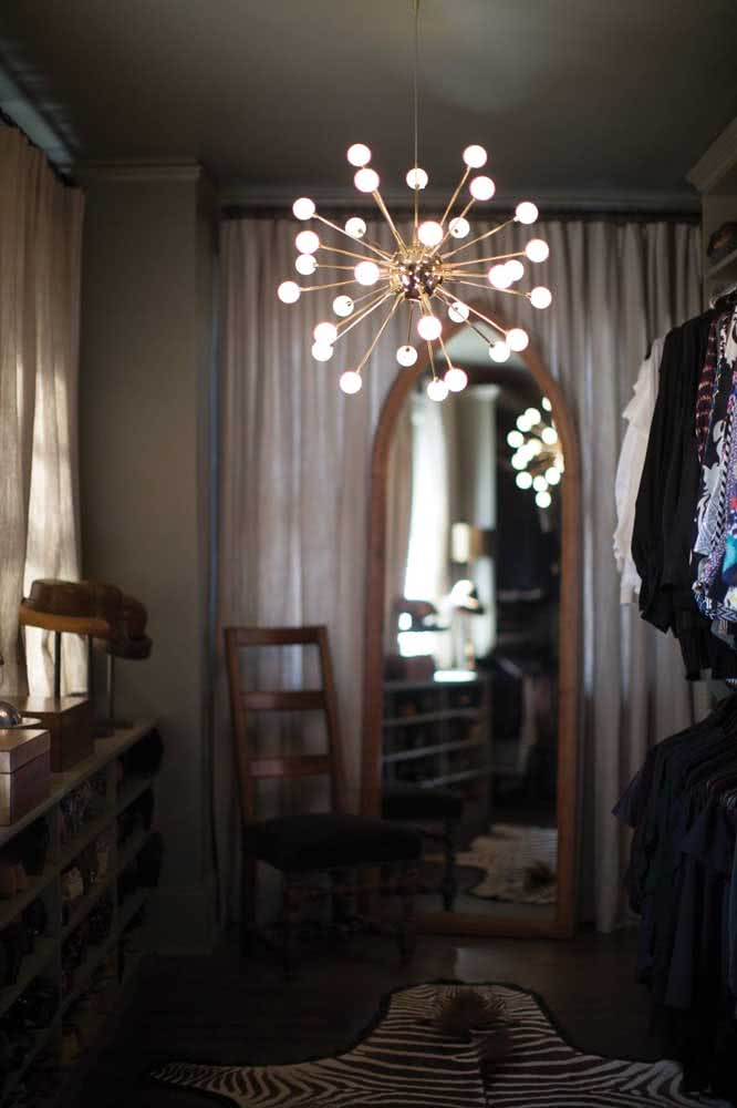 39 - How about filling the closet with shine with a Sputnik chandelier?