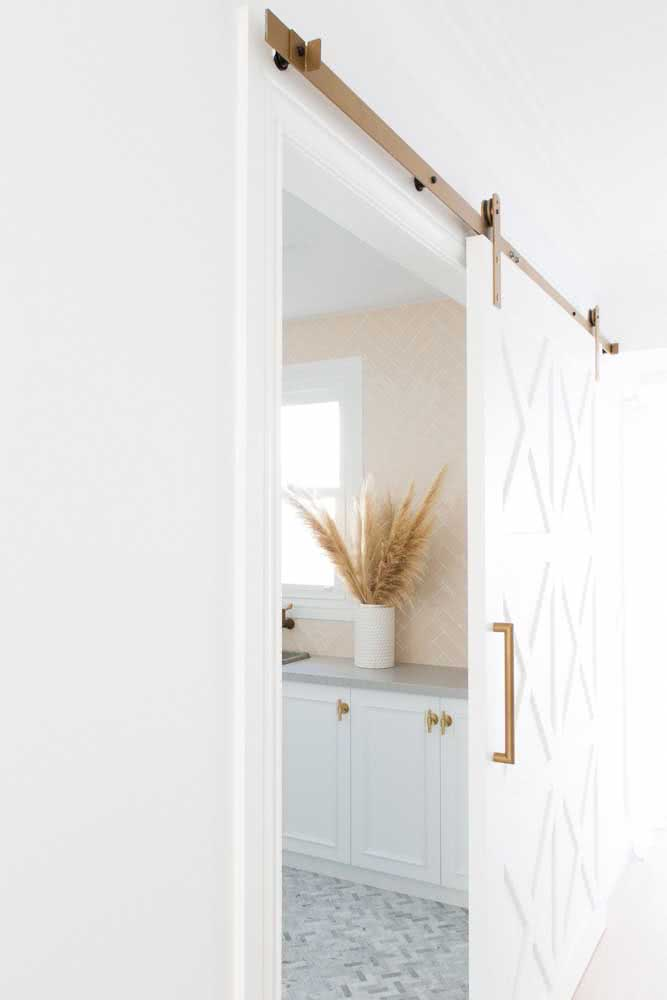41 - Have you thought about using a golden rail for a sliding door?