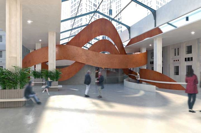49. With corten steel you can even play with art.