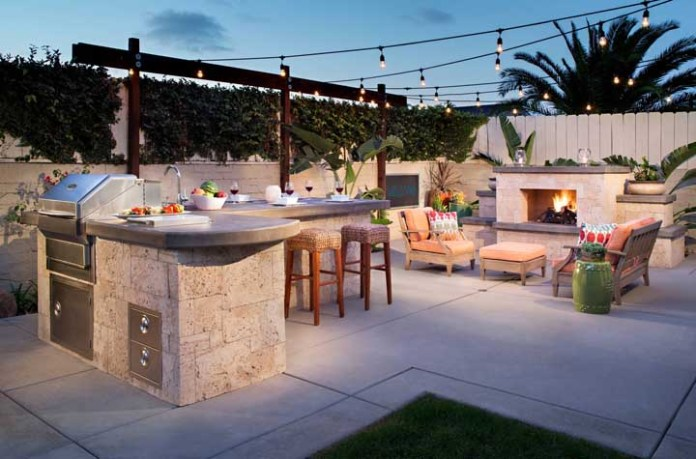 47. Be careful about creating a leisure area with a barbecue like this. You run the risk of guests not wanting to leave!