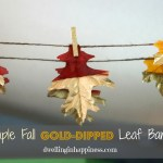 Simple Fall Gold-Dipped Leaf Banner