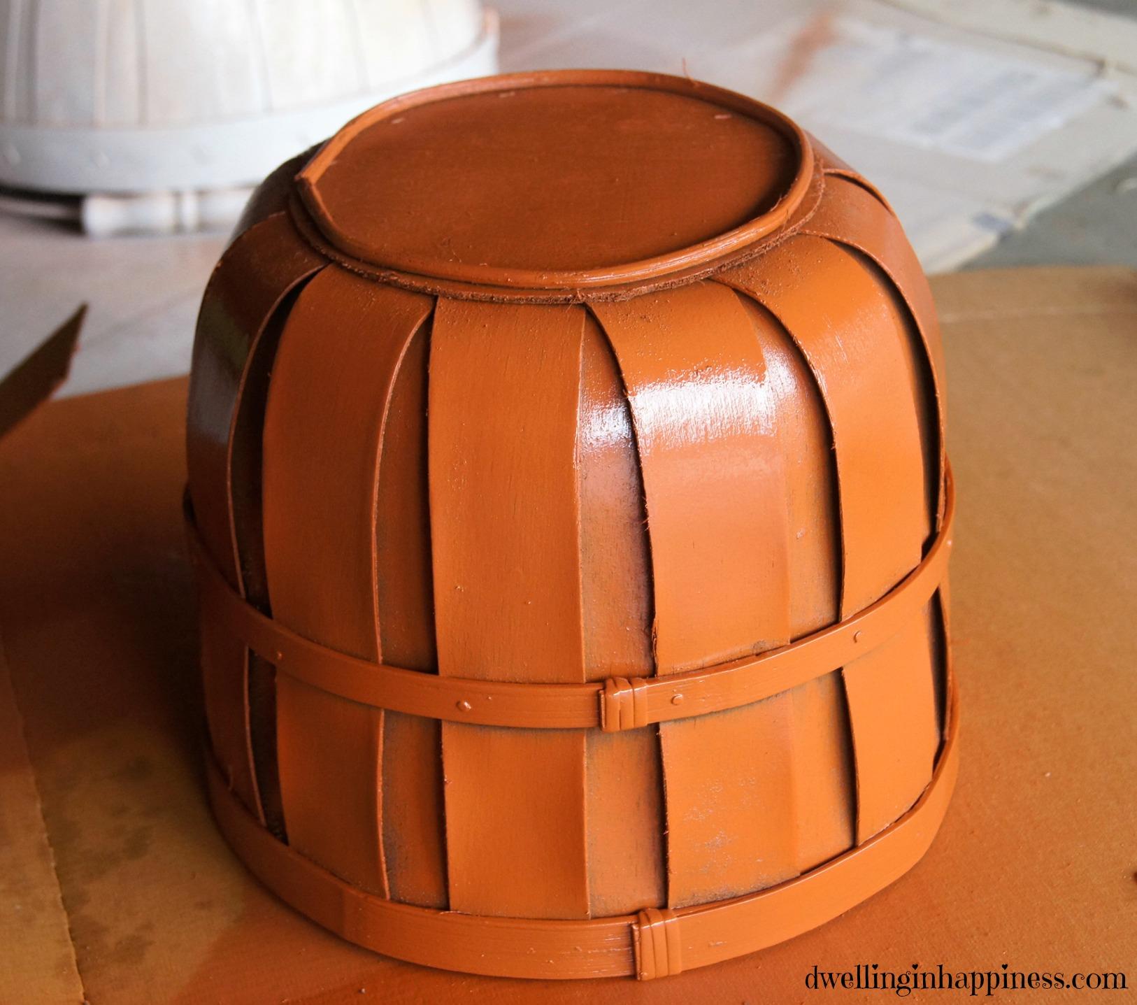 Easy Diy Fall Decor Basket Pumpkins