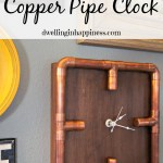 Industrial Copper Pipe Clock