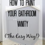 How To Paint Your Bathroom Vanity The Easy Way