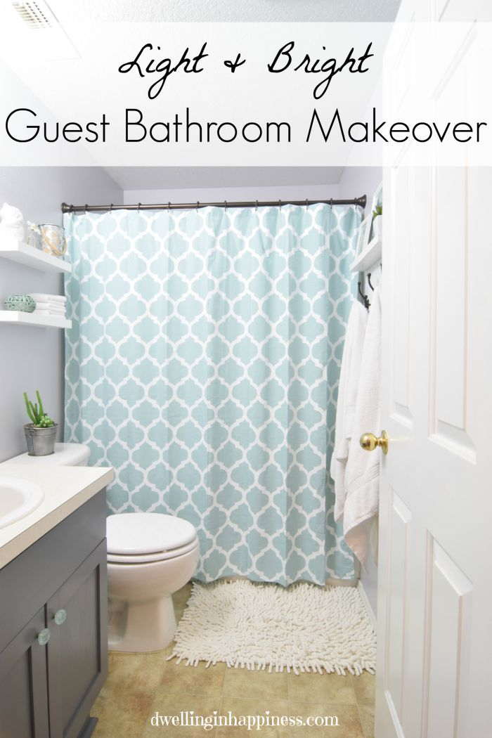 Light & Bright Guest Bathroom Makeover  The Reveal Best Small Jumping Bugs In Bathroom Inspiration