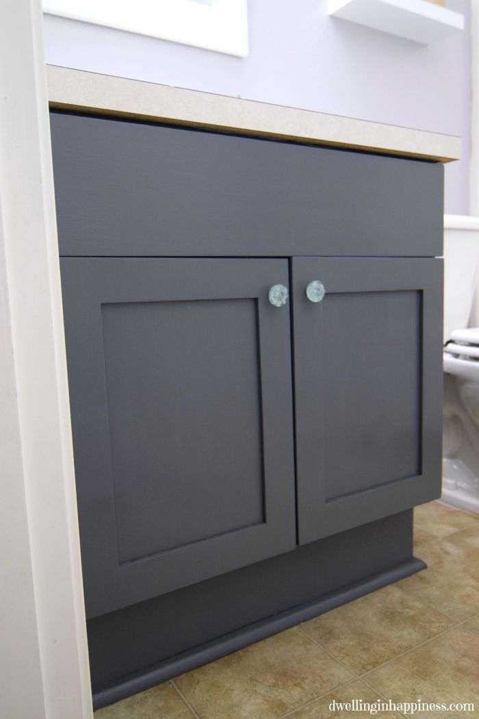 Painting Bathroom Cabinets Gray how to paint your bathroom vanity (the easy way!)
