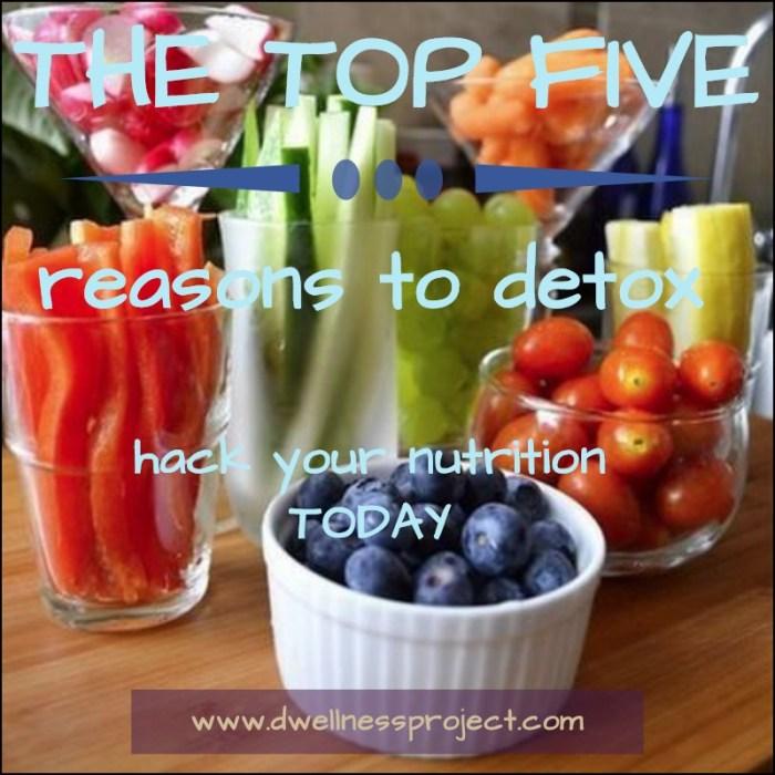 Top5ReasonsToDetox-Hack Your Nutrition Today