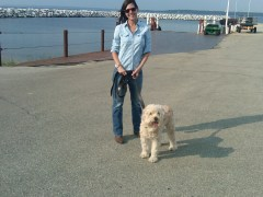 Sam and me at the Ferry dock
