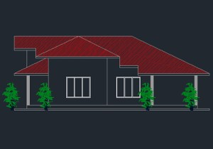 Single story three bedroom house plan free download