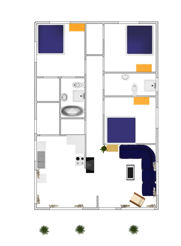 3D small house plan idea free download form dwg net  (1)