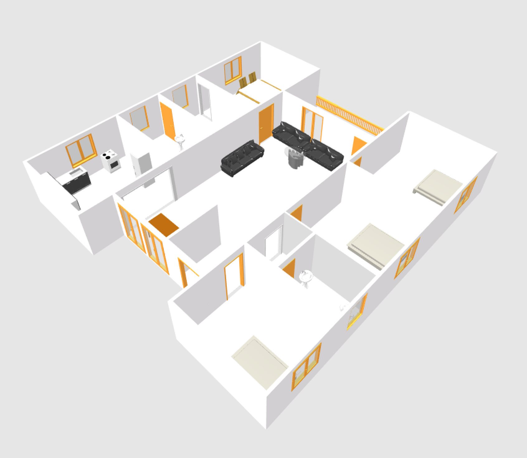 European Type Four Bed Room House Plans U2013 104
