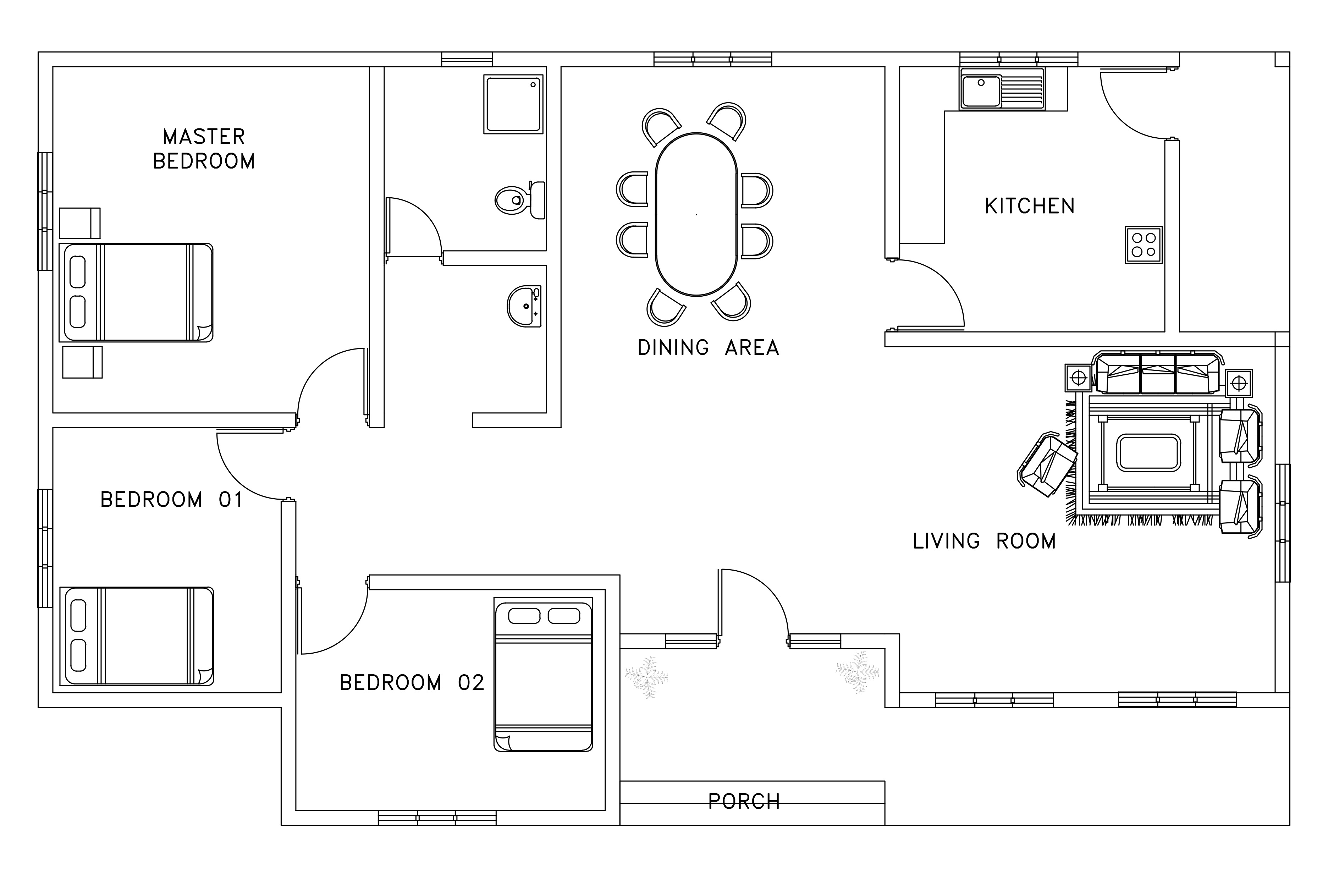 Twin Villa Floor Plan With Side Elevation Free Download