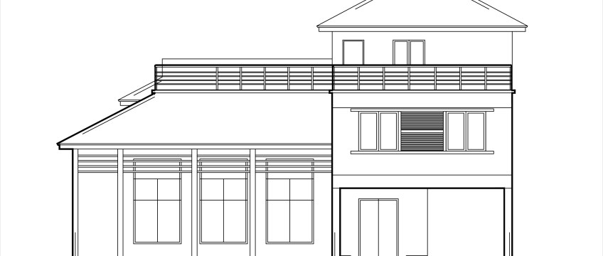 Double story low cost house plans - DWG NET | Cad Blocks and House Plans