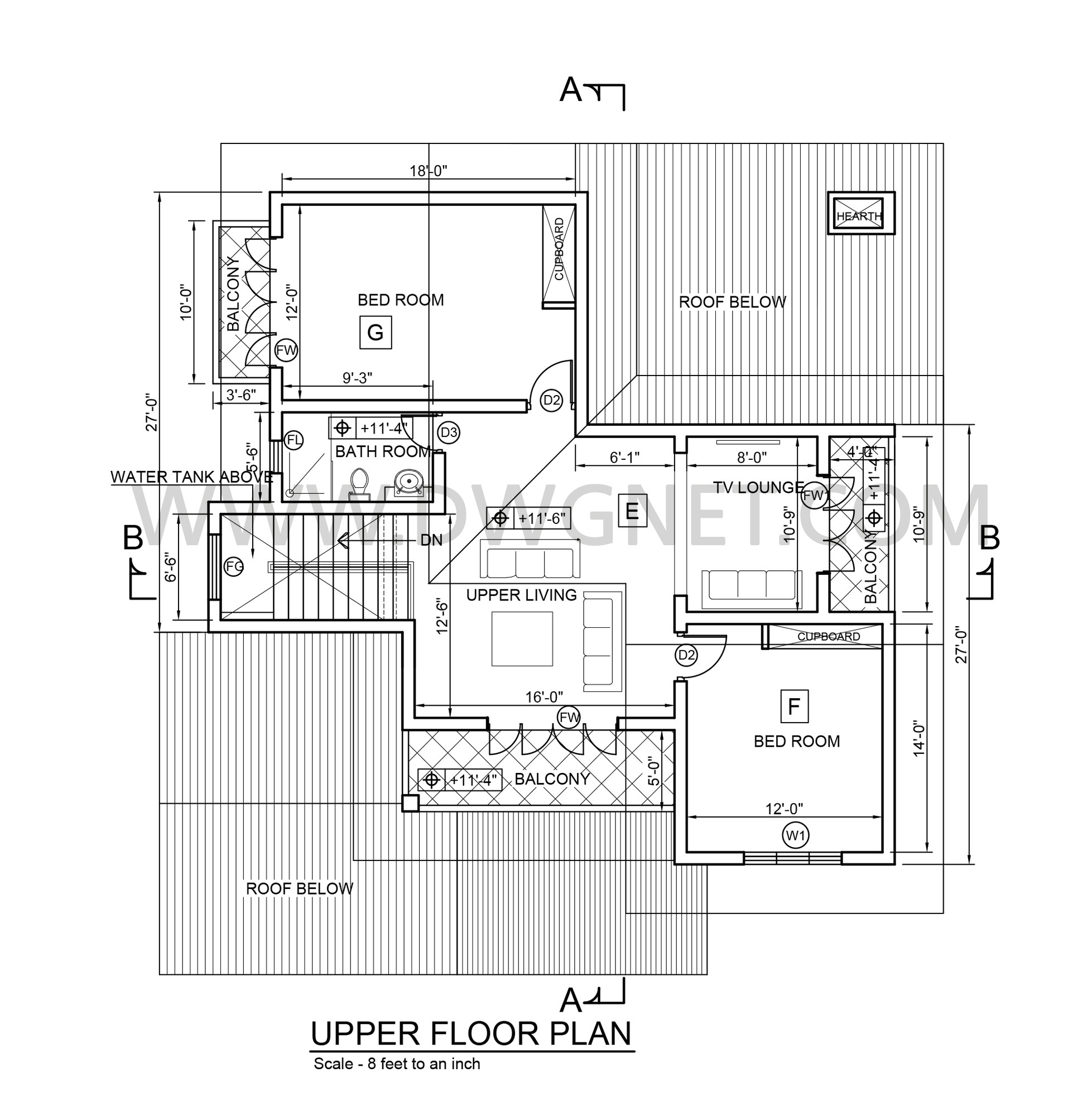 so you can free download your selected cad block or house plan using this below link - Double Story House Plans Free