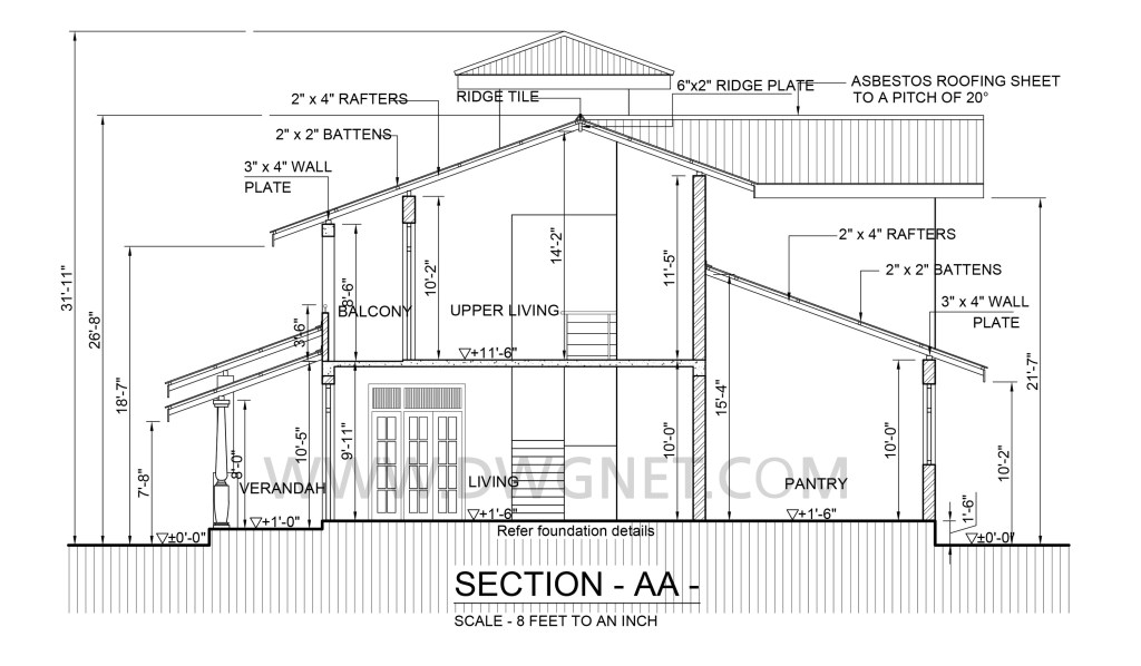 premium quality Four bedroom double story house plan