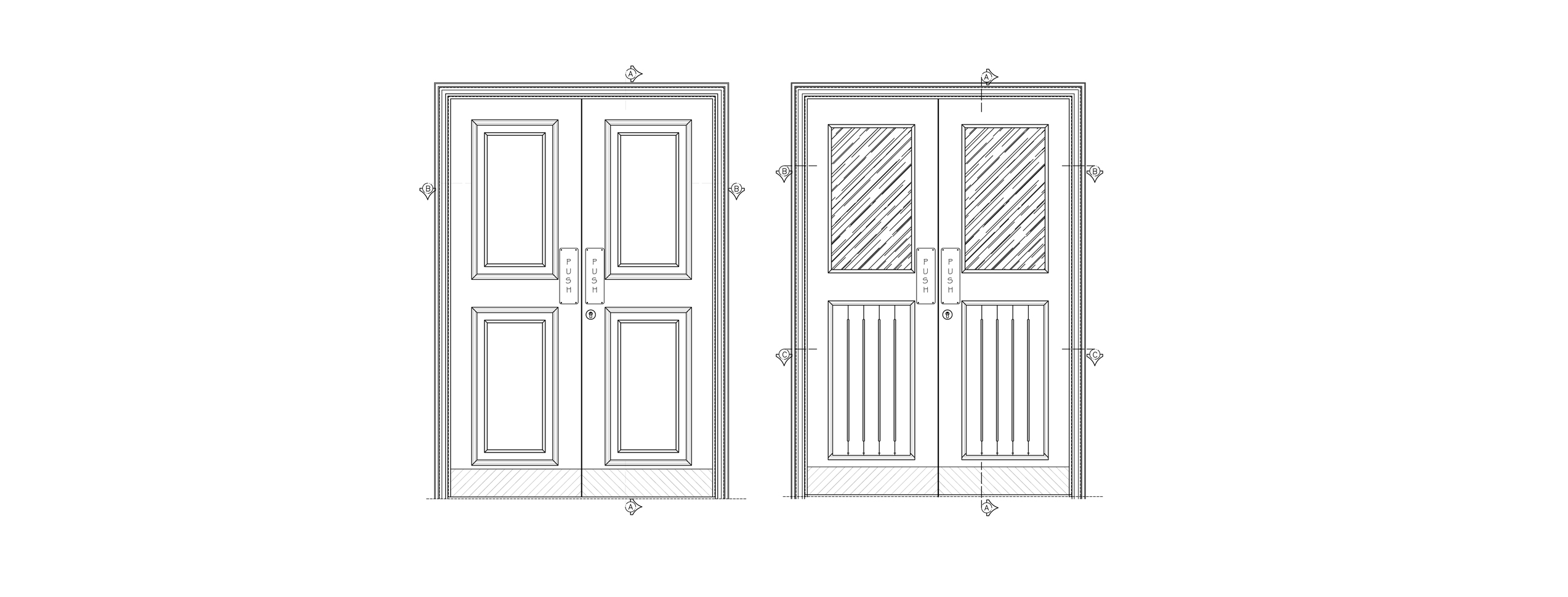 wooden doors cad block free download  sc 1 st  DWG NET & wooden doors cad block with dimension free download