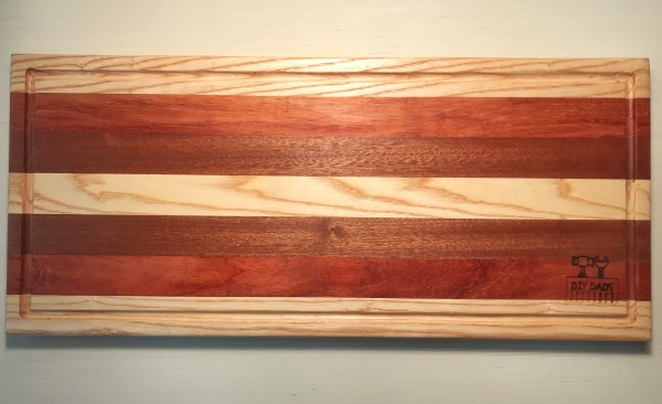 Padauk, African Mahogany and Bubinga Cutting Board 24×10