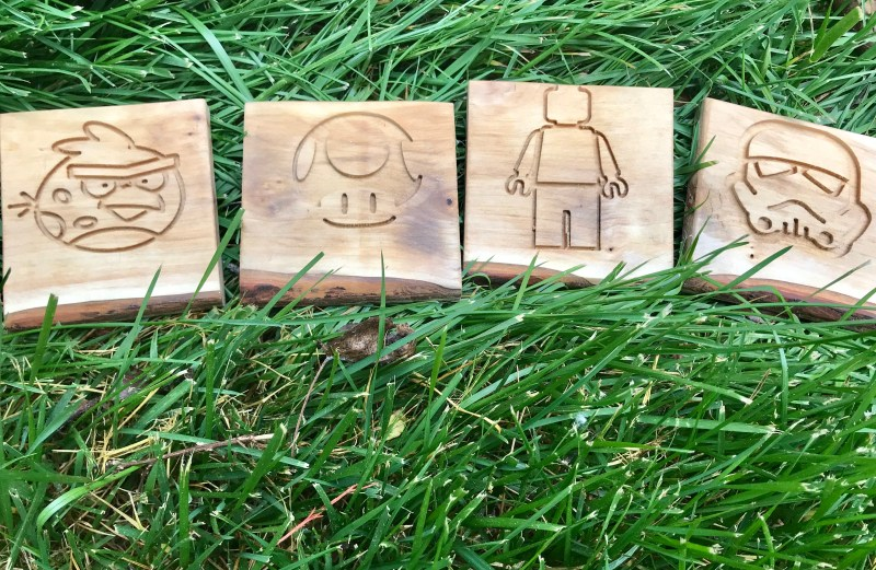 Angry Bird, Toad, Lego Man, and Storm Trooper Coasters