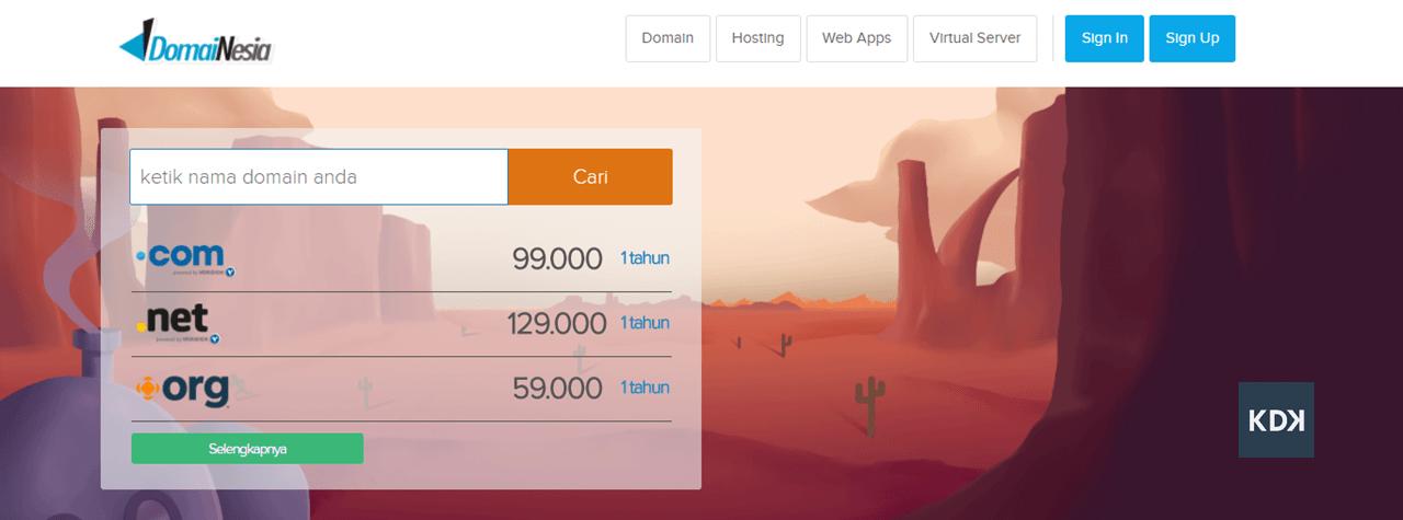 harga domain dotcom termurah di domainesia