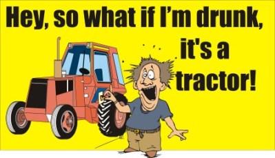 Farm tractor operator DWI in New York