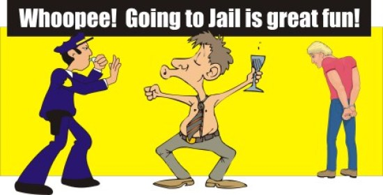 Going to jail great fun
