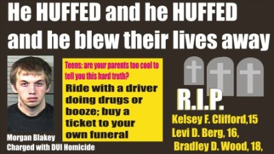 Morgan Blakey HUFFED and HUFFED and blew their lives away...