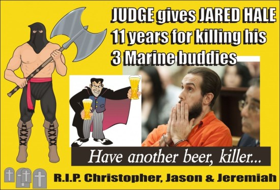Jared Hale sent to prison for 11 years for killing 3 Marines DUI